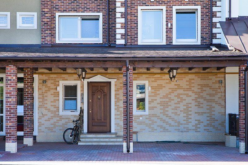 Houses Exteriors Design Idea Brick Townhouse