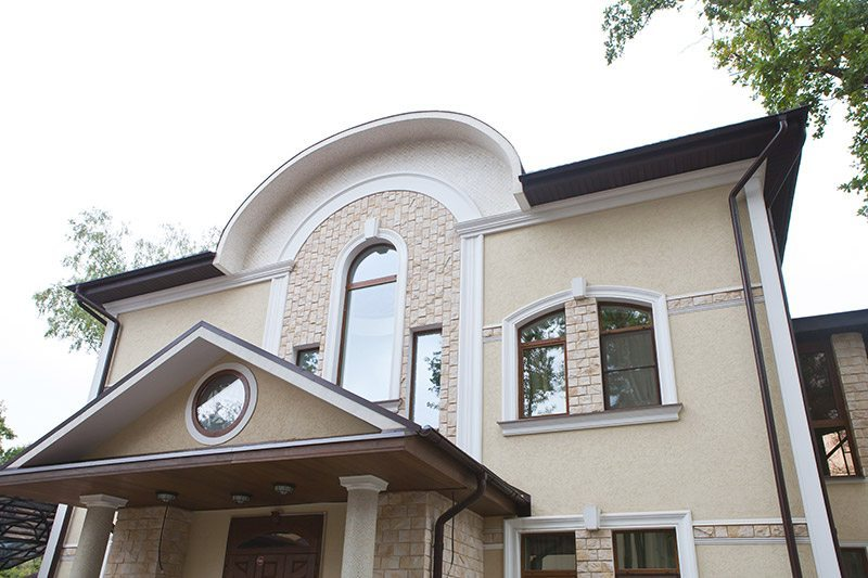 Houses Exteriors Design Idea a Two-Storey Private House