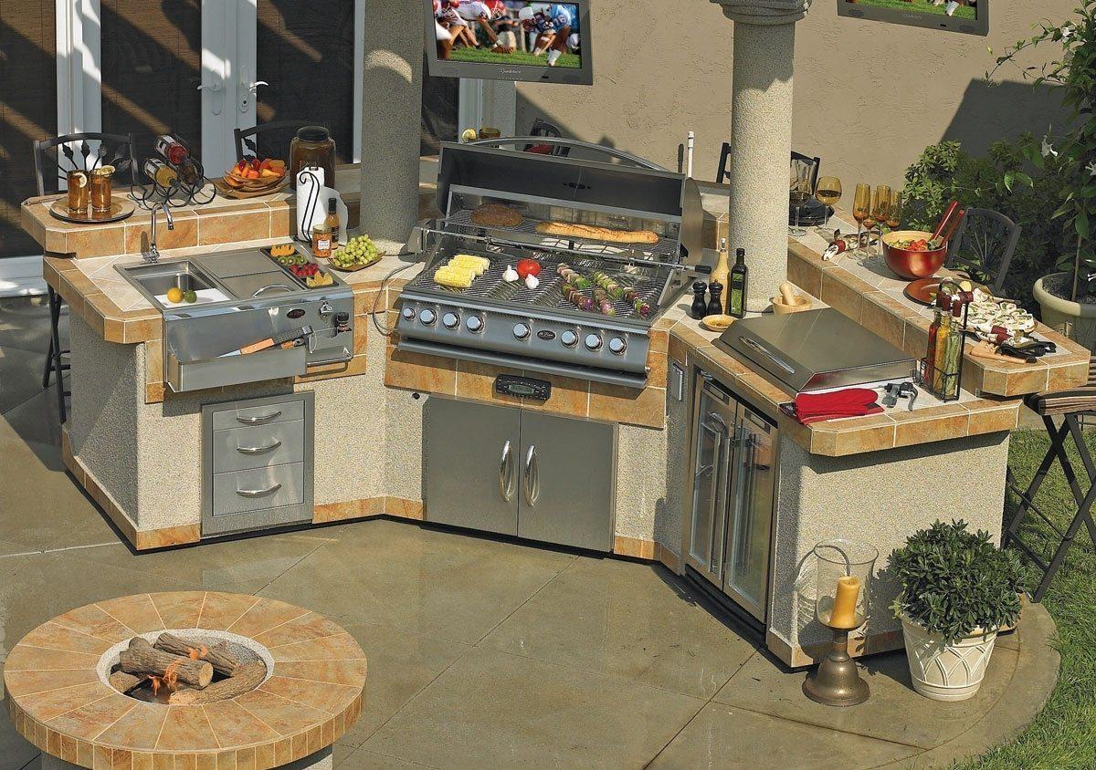 Outdoor Kitchen Kit Pavillion Islands Gpv3100 Grand Pavillion Bbq Island Home Improvementer
