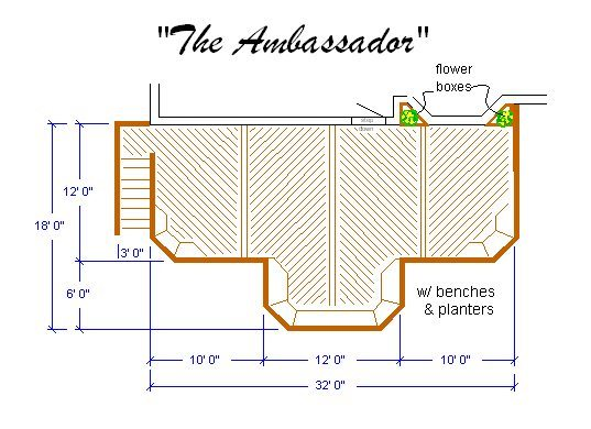 Building Deck  Plan  The Ambassador