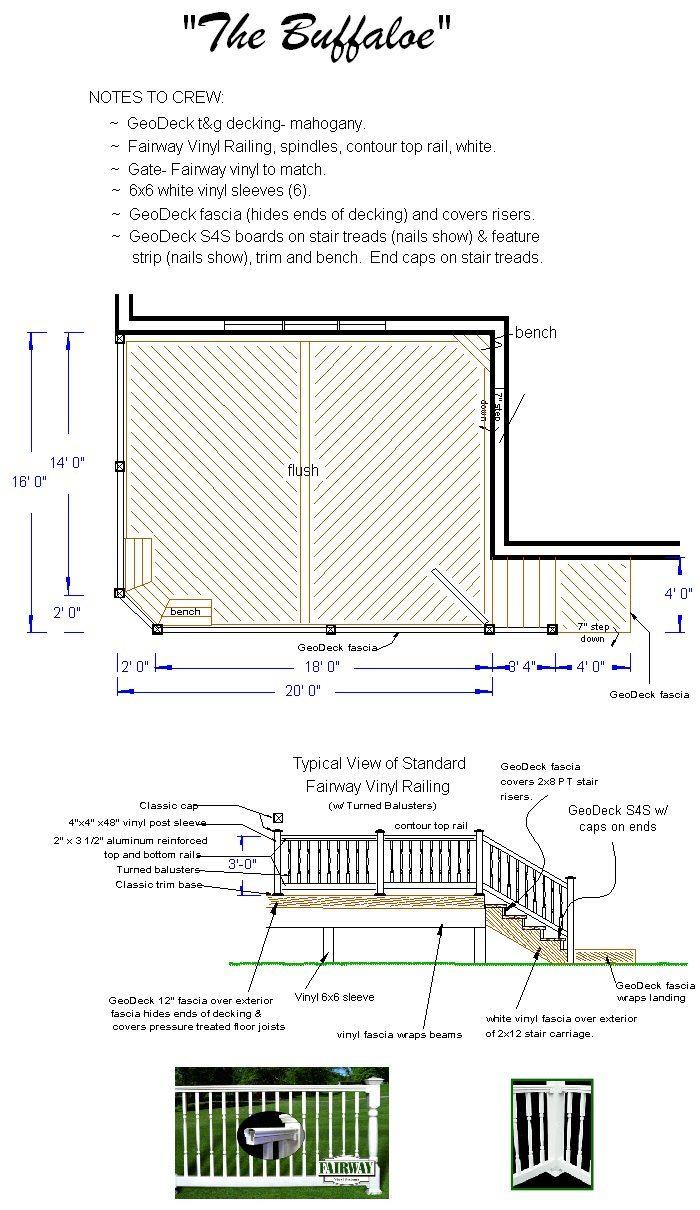 Building Deck  Plan  The  Buffaloe