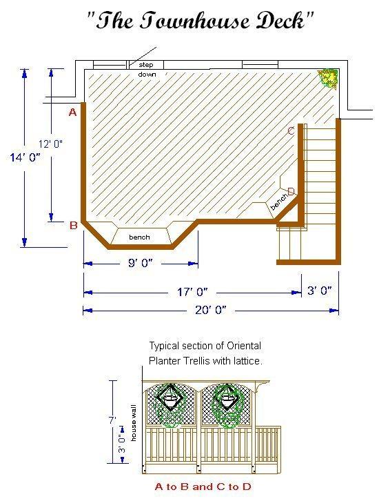 Building Deck  Plan  The TownHouseDeck