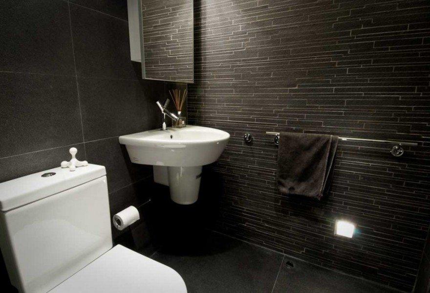 Black tiles for the bathroom