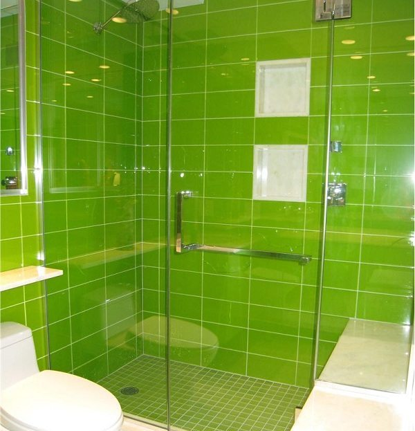 4 Place Green Bathroom Tile Design Ideas