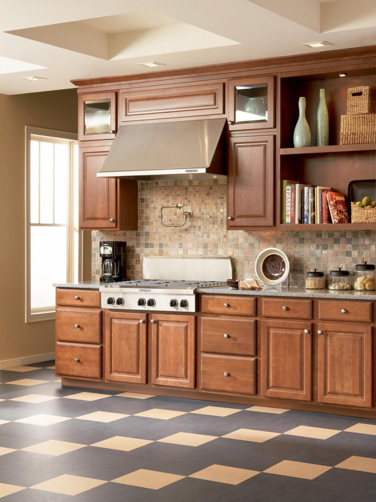 Natural linoleum in the kitchen // HGTV.com