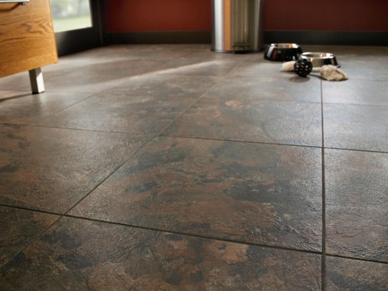 Tiled linoleum // HGTV.com