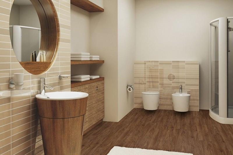 Linoleum flooring for bathroom // vannaja.net