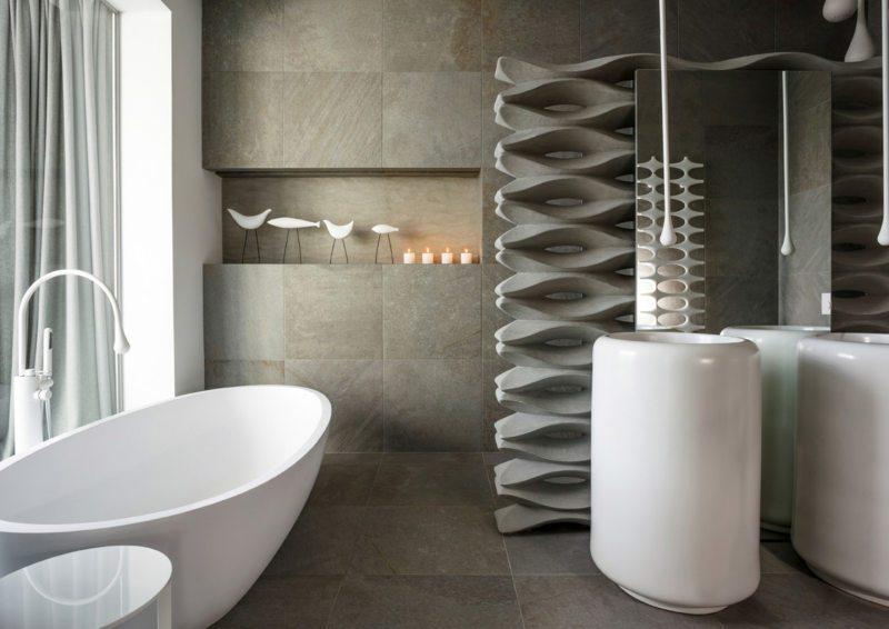 Scandy-inspired bathroom design // pinterest.com
