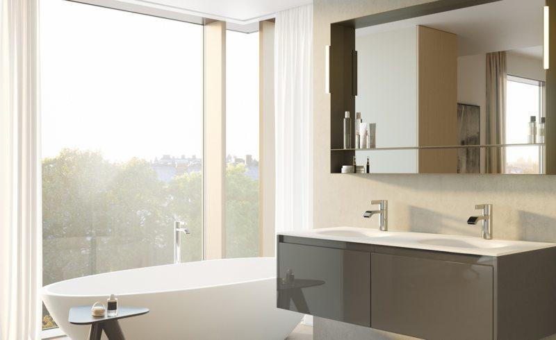 Contemporary bathroom featuring a barebones approach // pinterest.com