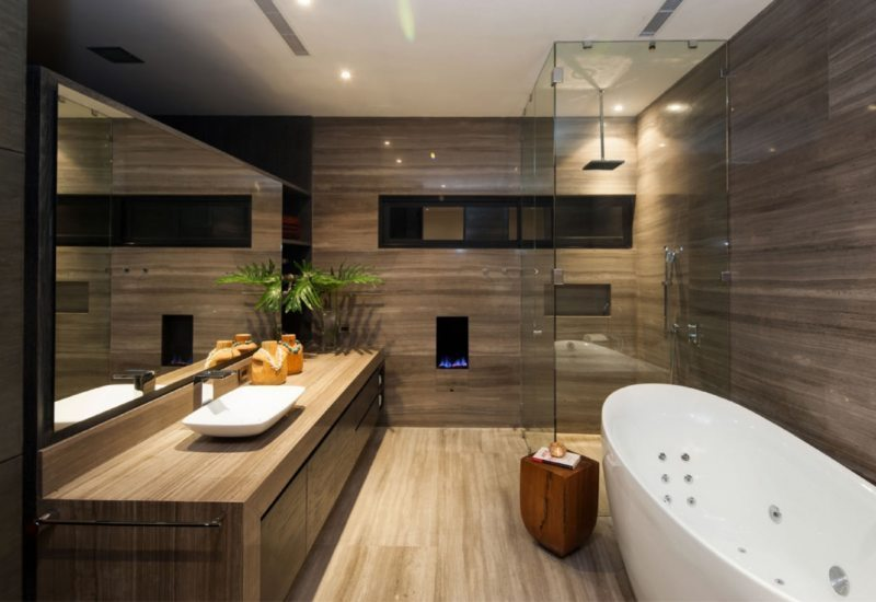 Another example of contemporary bathroom design // pinterest.com