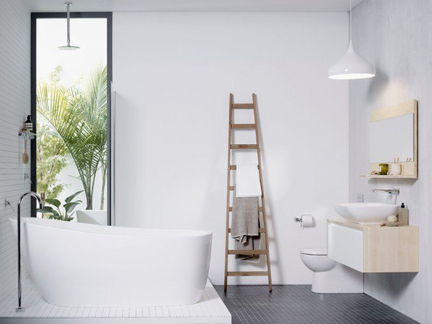 Scandy bathroom style // pinterest.com